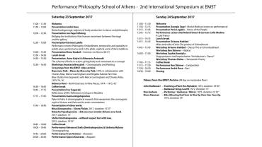 2nd International Symposium Performance Philosophy (Athens)_full program